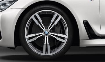 BMW Kompletträder M Doppelspeiche 648 bicolor (orbitgrey / glanzgedreht) 20 Zoll 6er G32 7er G11 G12