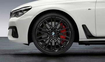BMW Kompletträder M Doppelspeiche 650 jet black uni glänzend 21 Zoll 6er G32 7er G11 G12 RDCi (Mischbereifung)