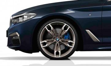 BMW Alufelge M Doppelspeiche 668 bicolor (ceriumgrey matt / glanzgedreht) 9J x 20 ET 44 Hinterachse BMW 5er G30 G31