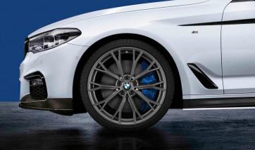 BMW Alufelge M Doppelspeiche 669 bicolor (orbitgrey / glanzgefräst) 8J x 20 ET 30 Vorderachse 5er G30 G31