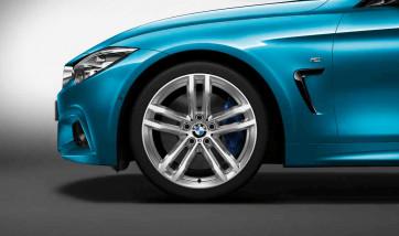 BMW Alufelge M Doppelspeiche 704 bicolor (ferricgrey / glanzgedreht) 8,5J x 19 ET 47 Hinterachse BMW 3er F30 F31 4er F32 F33 F36