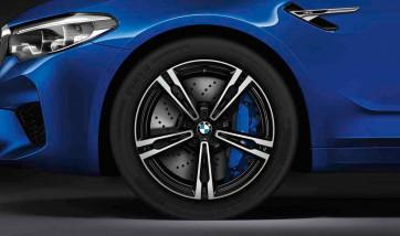 BMW Winterkompletträder M Doppelspeiche 705 bicolor (orbitgrey / glanzgedreht) 19 Zoll M5 F90 M5 CS M8 F91 F92 RDCi (Mischbereifung)