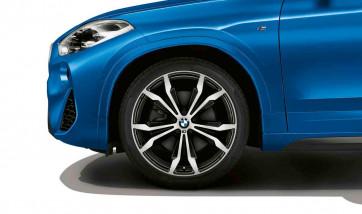 BMW Alufelge M Doppelspeiche 716 bicolor (schwarz / glanzgedreht) 8J x 20 ET 50 Vorderachse / Hinterachse X2 F39