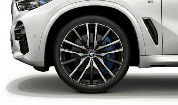 BMW Alufelge M Doppelspeiche 742 bicolor (schwarz / glanzgedreht) 9,5J x 22 ET 37 Vorderachse X5 G05 X6 G06