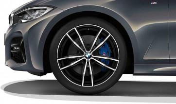 BMW Kompletträder M Doppelspeiche 791 bicolor (jet black uni / glanzgedreht) 19 Zoll 3er G20 G21 RDC (Mischbereifung)