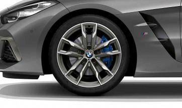 BMW Alufelge M Doppelspeiche 800 bicolor (ceriumgrey / glanzgedreht) 10J x 19 ET 40 Hinterachse Z4 G29