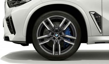 BMW Winterkompletträder M Doppelspeiche 808 orbitgrey 21 Zoll X5M F95 X6M F96 RDCi (Mischbereifung)