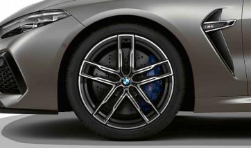 BMW Alufelge M Doppelspeiche 810 bicolor (orbitgrey / glanzgedreht) 9,5J x 20 ET 28 Vorderachse M5 F90 M8 F91 F92 F93