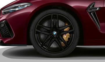 BMW Alufelge M Doppelspeiche 810 schwarz 9,5J x 20 ET 28 Vorderachse M8 F91 F92
