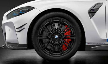 BMW Winterkompletträder M Doppelspeiche 829 jet black matt 19 Zoll M3 G80 M4 G82 RDC
