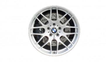 BMW Alufelge M Kreuzspeiche 163 silber 8,5J x 19 ET 44 Vorderachse M3 E46
