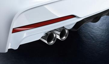 BMW M Performance Endrohrblende chrom 2er F22 F23 3er F30 F31 4er F32 F33 F36