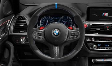 BMW M Performance Lenkradblende Carbon/Alcantara 5er G30 G31 M5 F90 6er G32 8er G14 G15 G16 M8 F91 F92 F93 X3 G01 X3M F97 X4 G02 X4M F98 X5 G05 X5M F95 X6 G06 X6M F96 X7 G07