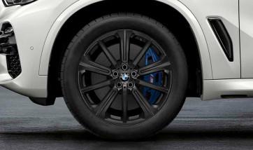 BMW Kompletträder M Performance Sternspeiche 748 jet black matt 20 Zoll X5 G05 X6 G06 RDCi (Mischbereifung)