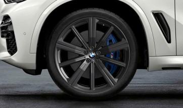 BMW Kompletträder M Performance Sternspeiche 749 jet black matt 22 Zoll X5 G05 X6 G06 RDCi (Mischbereifung)