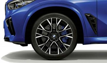 BMW Alufelge M Performance Sternspeiche 809 schwarz matt 11,5J x 22 ET 43 Hinterachse X5M F95 X6M F96