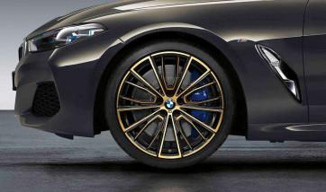 BMW Alufelge M Performance Vielspeiche 732 bicolor (night gold / glanzgefräst) 8J x 20 ET 26 Vorderachse 8er G14 G15 G16