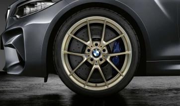 BMW Alufelge M Performance Y-Speiche 763 frozen gold matt 9J x 20 ET 41 Hinterachse 8er G14 G15 G16