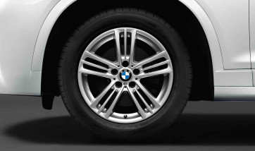 BMW Alufelge M Sternspeiche 368 silber 8J x 18 ET 43 Vorderachse / Hinterachse X3 F25 X4 F26