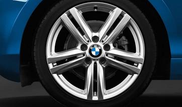 BMW Alufelge M Sternspeiche 386 silber 8J x 18 ET 52 Hinterachse 1er F20 F21 2er F22 F23