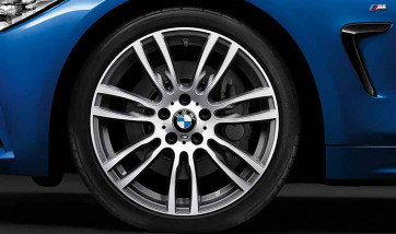 BMW Alufelge M Sternspeiche 403 bicolor (ferricgrey / glanzgedreht) 8,5J x 19 ET 47 Hinterachse 3er F30 F31 4er F32 F33 F36