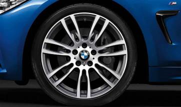 BMW Alufelge M Sternspeiche 403 bicolor (ferricgrey / glanzgedreht) 8J x 19 ET 36 Vorderachse 3er F30 F31 4er F32 F33 F36