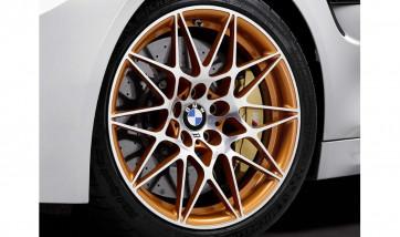 BMW Alufelge M Sternspeiche 666 acid orange metallic 9,5J x 19 ET 29 Vorderachse M4 F82 GTS