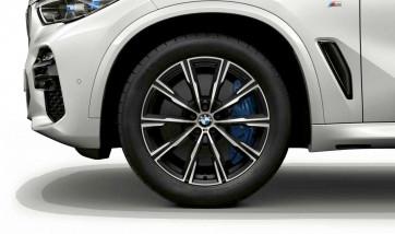 BMW Winterkompletträder M Sternspeiche 740 bicolor (orbitgrey / glanzgedreht) 20 Zoll X5 G05 X6 G06 RDCi
