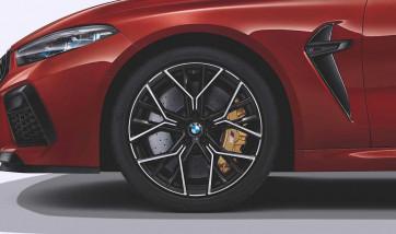BMW Alufelge M Sternspeiche 811 bicolor (schwarz / glanzgedreht) 9,5J x 20 ET 28 Vorderachse M8 F91 F92