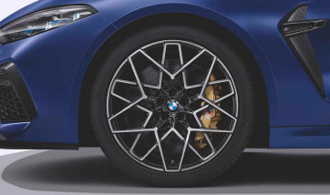 BMW Alufelge M Sternspeiche 813 bicolor (transl. shadow / glanzgedreht) 10,5J x 20 ET 28 Hinterachse M8 F91 F92