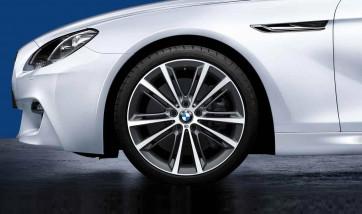 BMW Alufelge M Performance V-Speiche 464 bicolor (ferricgrey / glanzgedreht) 9J x 20 ET 44 Hinterachse 5er F10 F11 6er F06 F12 F13