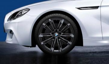 BMW Alufelge M Performance V-Speiche 464 liquid black 9J x 20 ET 44 Hinterachse 5er F10 F11 6er F06 F12 F13