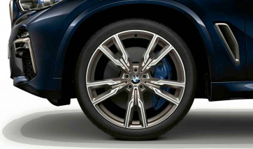 BMW Alufelge M V-Speiche 747 ceriumgrey 10,5J x 22 ET 43 Hinterachse X5 G05 X6 G06