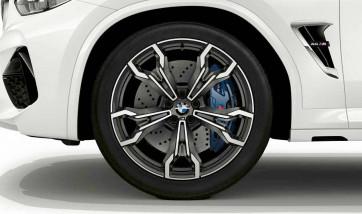 BMW Alufelge M V-Speiche 765 bicolor (orbitgrey / glanzgedreht) 10J x 21 ET 39 Hinterachse X3M F97 X4M F98