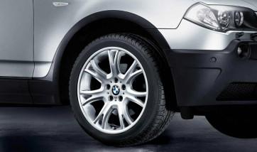 BMW Alufelge M Y-Speiche 191 8,5J x 19 ET 46 Silber Vorderachse BMW X3 E83