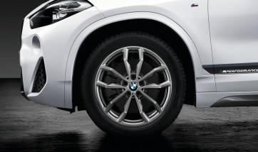 BMW Winterkompletträder M Y-Speiche 711 ferricgrey 18 Zoll X1 F48 X2 F39 RDCi