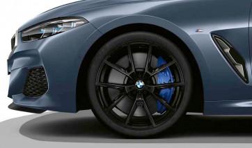 BMW Alufelge M Y-Speiche 728 jet black uni 8J x 20 ET 26 Vorderachse 8er G14 G15 G16