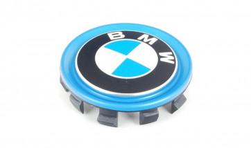 BMW Nabenabdeckung mit blauem Ring