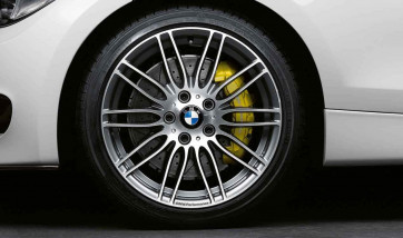 BMW Alufelge Performance Doppelspeiche 269 bicolor (ferricgrey / glanzgedreht) 7,5J x 18 ET 49 Vorderachse 1er E81 E82 E87 E88
