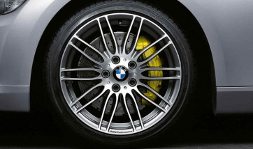 BMW Alufelge Performance Doppelspeiche 269 bicolor (ferricgrey / glanzgedreht) 8,5J x 18 ET 50 Hinterachse BMW 3er E46 Z4 E85 E86