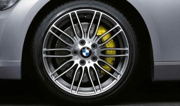 BMW Kompletträder M Performance Doppelspeiche 269 bicolor (ferricgrey / glanzgedreht) 19 Zoll 3er E90 E91 E92 E93 (Mischbereifung)