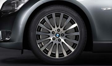 BMW Alufelge Radialspeiche 190 stahlgrau poliert 9J x 19 ET 39 Hinterachse 3er E90 E91 E92 E93