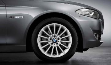 BMW Alufelge Radialspeiche 237 silber 8J x 18 ET 30 Vorderachse / Hinterachse BMW 5er F10 F11 6er F06 F12 F13