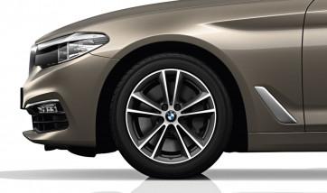 BMW Alufelge V-Speiche 631 bicolor (ferricgrey / glanzgedreht) 7,5J x 17 ET 27 Vorderachse / Hinterachse 5er G30 G31