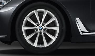 BMW Alufelge V-Speiche 642 reflexsilber 9J x 18 ET 41 Hinterachse 8er G14 G15 G16