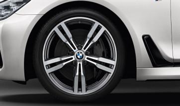 BMW Winterkompletträder M Doppelspeiche 648 bicolor (orbitgrey / glanzgedreht) 20 Zoll 6er G32 7er G11 G12 RDCi