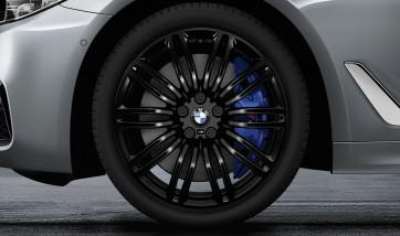 BMW Kompletträder M Doppelspeiche 664 jet black uni 19 Zoll 5er G30 G31 RDCi (Mischbereifung)