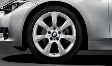 BMW Alufelge Sternspeiche 396 reflexsilber 8J x 18 ET 34 Vorderachse / Hinterachse 3er F30 F31 F34 4er F32 F33 F36