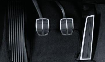 BMW Edelstahlpedalauflagen Schaltgetriebe