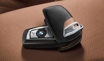 BMW Schlüsseletui Luxury Line schwarz/braun